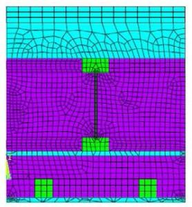 Numerický model typu PLANE55 střecha (detail3)