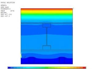 Teplotní pole ve střeše (detail 3)